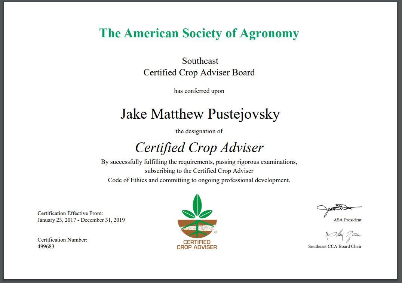Certified Crop Adviser Practice Exam