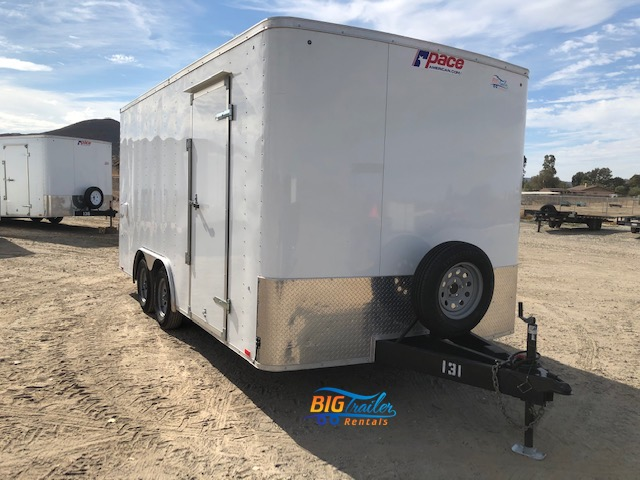16' Enclosed Trailer Rental