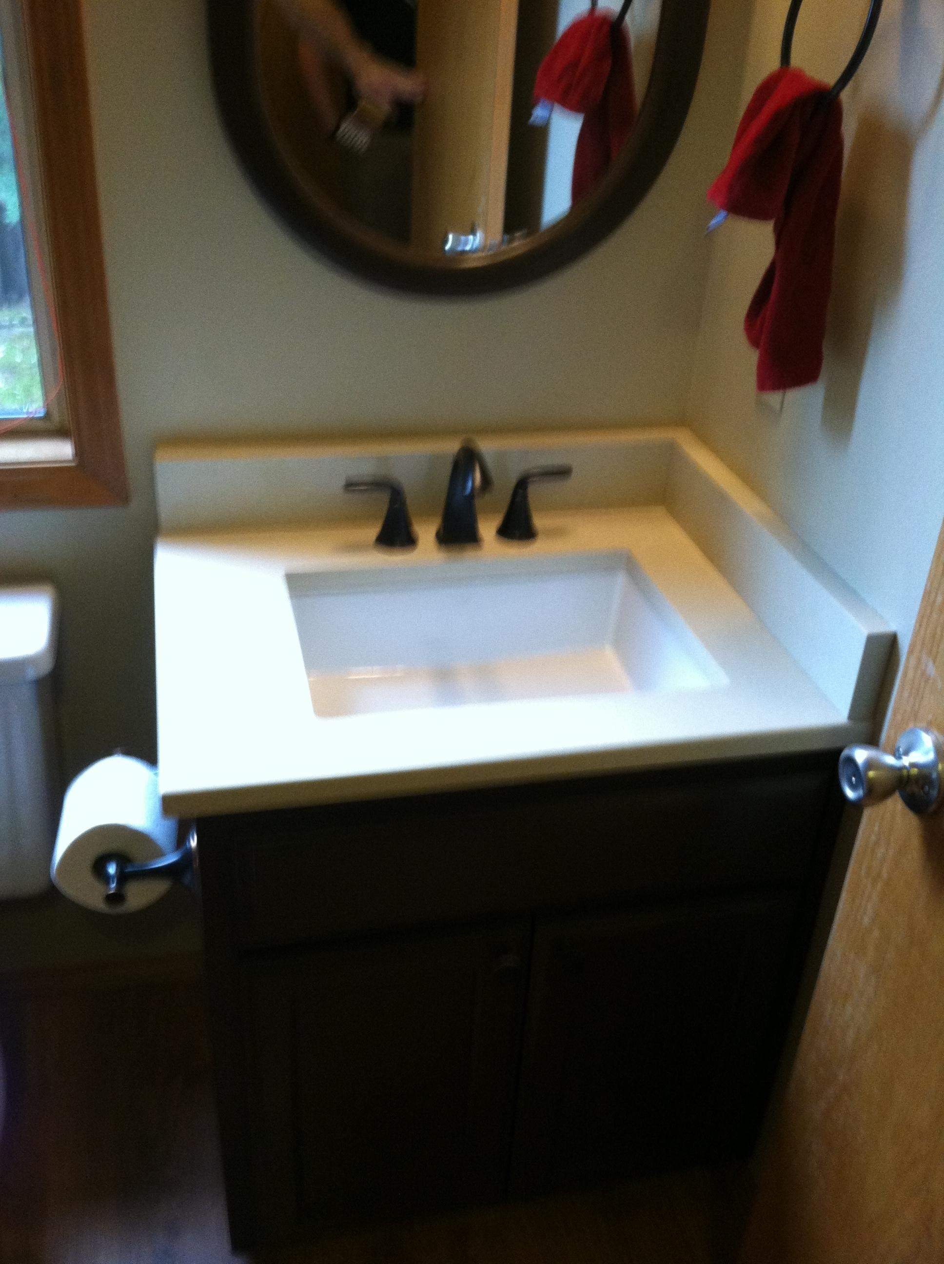 Countertop redo and cabinet paint