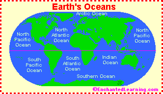 Lessons Age - World map how many oceans