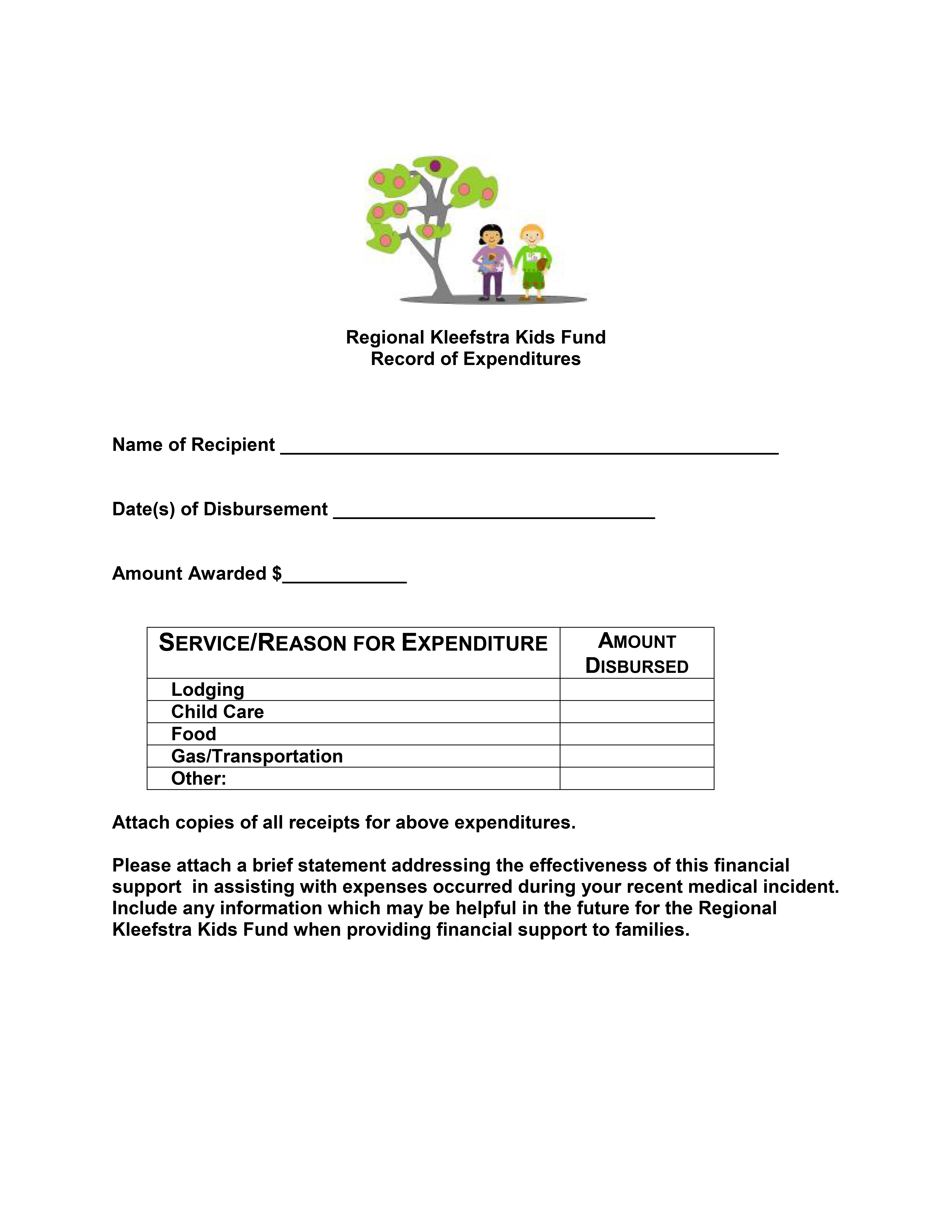 Reimbursement Form – Reimbursement Form