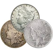 CIRCULATED MORGAN & PEACE DOLLARS