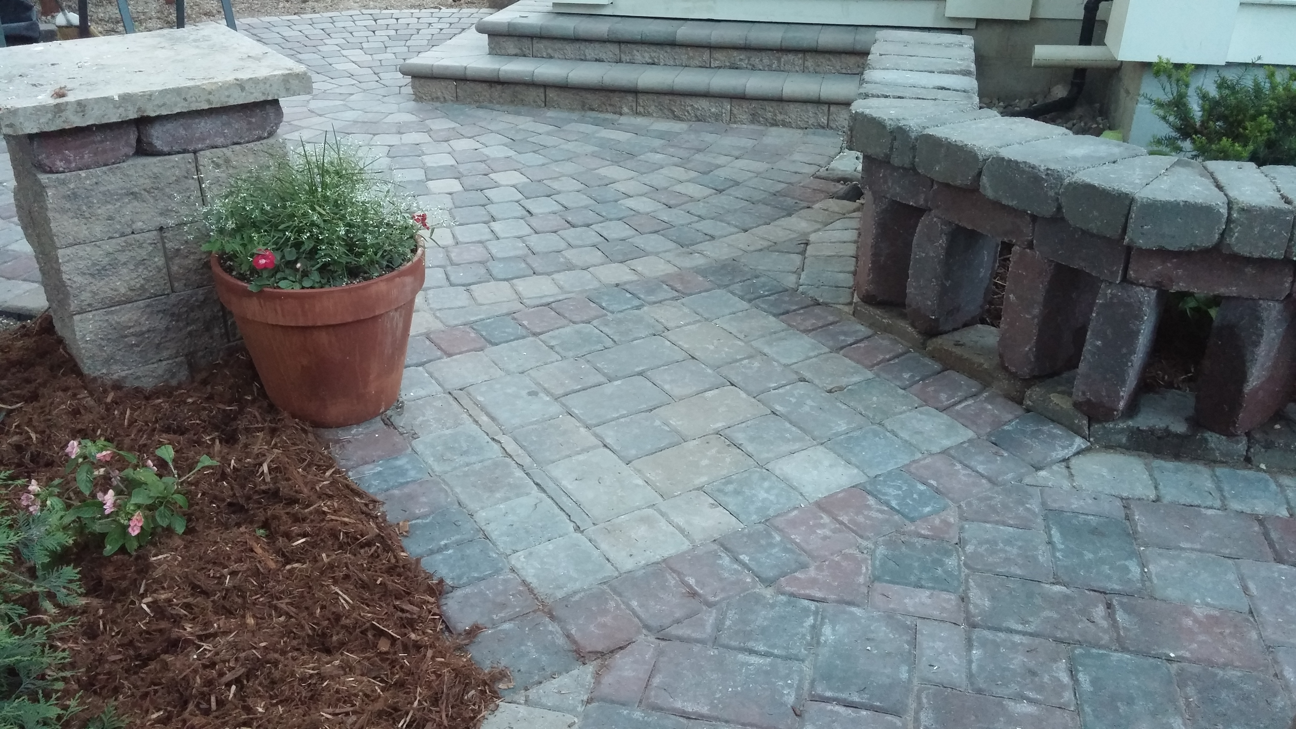 Paver patterns and colors