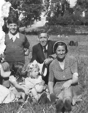 With Mum and Dad and Anita in Regents Park in 1951