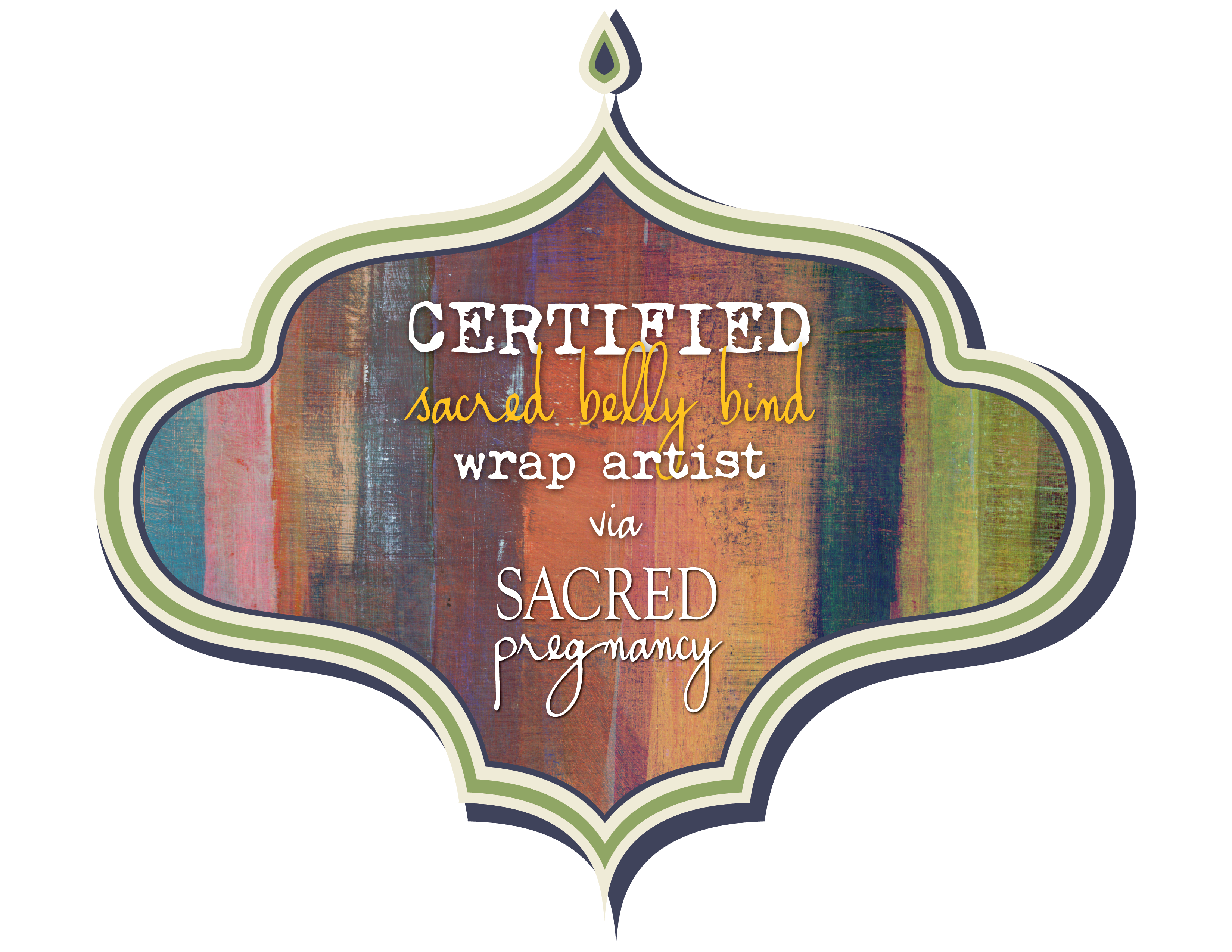 Sacred Belly Bind wrap artist