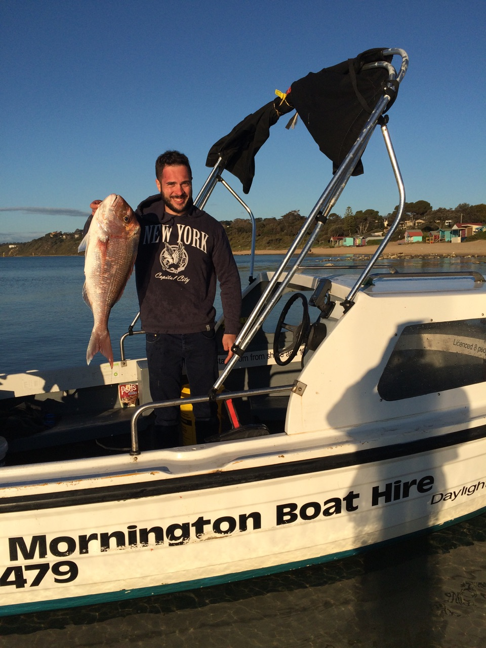 snapper fishing boat for hire mornington schnapper peninsula melbourne