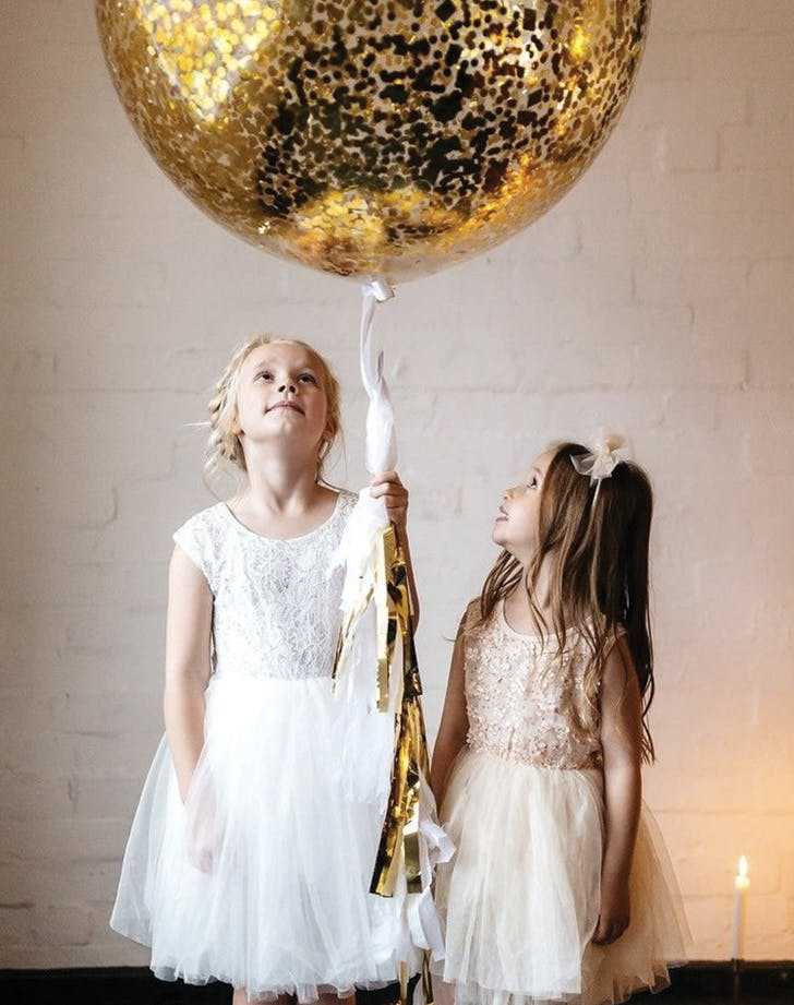 Confetti Clear Balloons