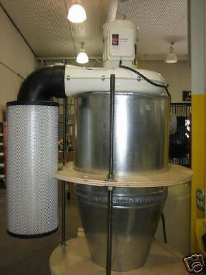4 inch inlet on the Left Cyclone Dust Collector
