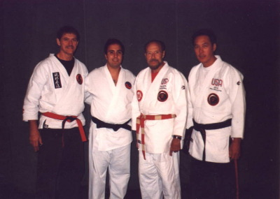 DaSilva Sensei (2nd from left) at the first annual Mid-West Small Circle Jujitsu Seminar