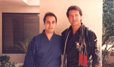 DaSilva Sensei with Jeff Speakman at the World Head of Family Sokeship Council, 1996